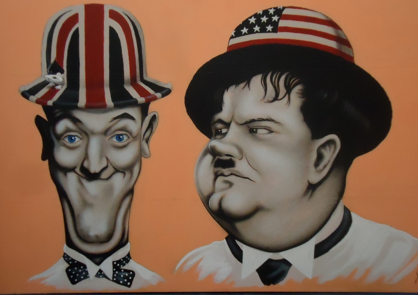 Stan Laurel, Oliver Hardy by marcart